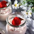アガーで作る!いちごミルクプリン♡【#簡単レシピ#プリン】