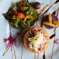 デビルタン燻製と大根の煮込み カレーンコンとサラダ  豊菜JIKAN×Noritakeプレート by 青山 金魚さん