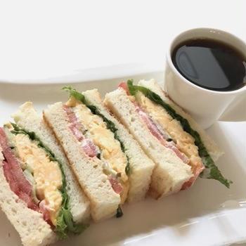 サンドイッチモーニングとスッキリクーノン