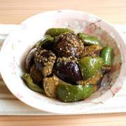 レンジで簡単常備菜レシピ。なすピーマンのごま南蛮