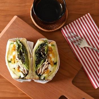 満腹サンドイッチ「豚バラとズッキーニのトーストサンド」