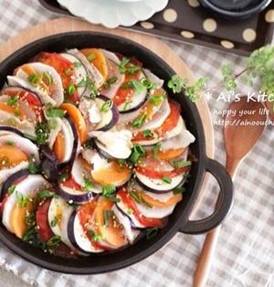 最近ハマっている温野菜の食べ方は…毎日欲しくなる中毒性♡レンジで簡単豚肉と野菜のミルフィーユ♡