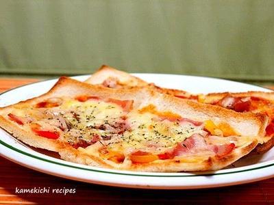 薄くてカリッと「ピザトースト」&「最近の食卓と新しい夫婦茶碗」