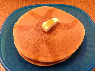 米粉と豆乳のホットケーキ