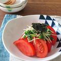 火を使わず♪トマトと貝割れ菜のおじゃこサラダ