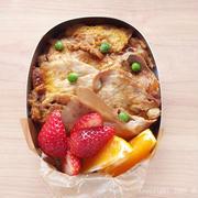 生姜焼きの卵とじ弁当と、イカイカイルカ、ハッ!