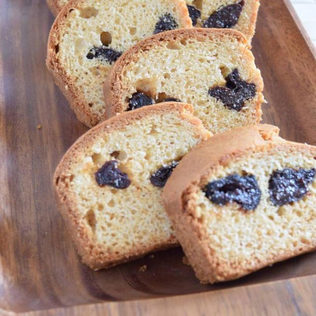 ホットケーキミックスで作るプルーンのパウンドケーキ(砂糖不使用)
