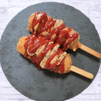 【韓国】チーズドッグ(ハットグ)レシピ
