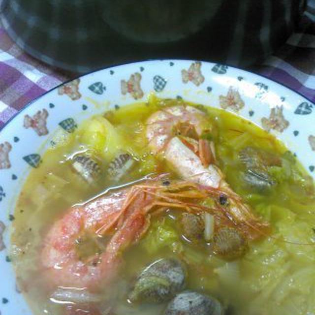 レシピアサリと海老の和風なブイヤベース