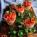 見た目華やか 作り方簡単! イタリアンカラーの春アミューズ トマトジェリーのきらきらマッシュ 新じゃが アスパラ by 青山 金魚さん