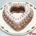 シナモン香る♪ハートのチョコレートケーキ☆ 【宝石のような赤はGABANピンクペパー】