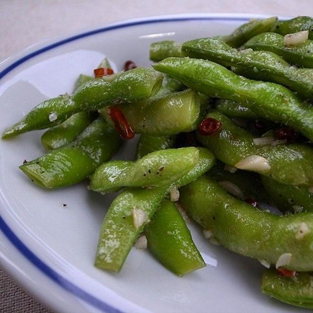 枝豆のペペロンチーノ ♪