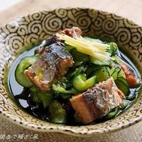 缶詰で簡単おつまみ <さんま蒲焼缶で鰻ざく風>