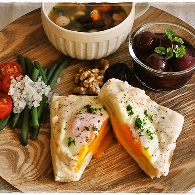 ワンプレート朝ご飯~クロックマダム~とらん丸さん