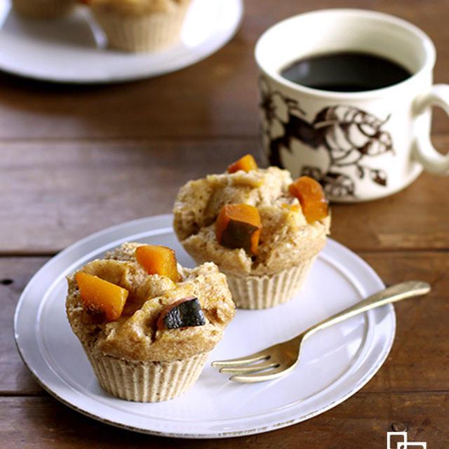 リメイク!かぼちゃ煮ごま蒸しパン