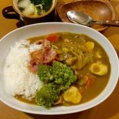 豚モモ固まり肉の長ネギと里芋の香りの良い優しいカレー