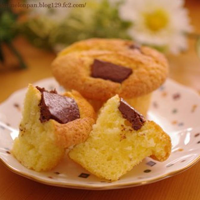 チョコざくざくカップケーキ☆パウンドケーキアレンジ