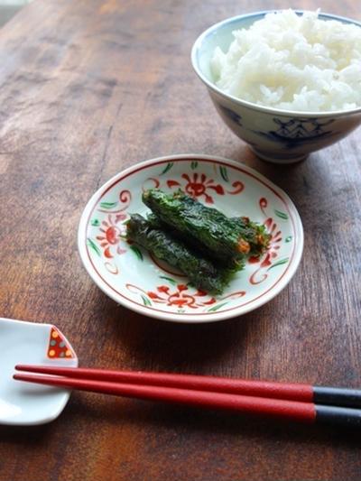 【作り置き】ピリ辛にんにく味噌の大葉巻き