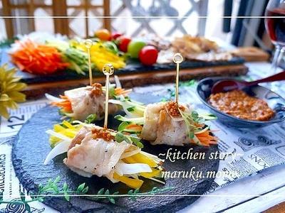 >1分で作れる『ガーリック味噌だれ』で豚肉の野菜巻き by 桃咲マルクさん