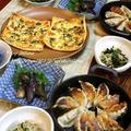 ◆ピザに餃子も行者ニンニクのおうちごはん~ゆるやか糖質制限中♪