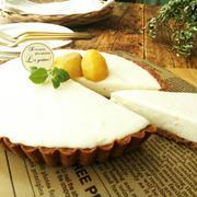 栗の甘露煮のレアチーズタルト