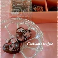 バレンタインに・・ハートのトリュフチョコレート☆