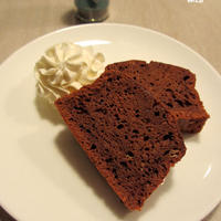卵黄とバターを使わない♪ミント香るヘルシーチョコケーキ