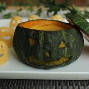 ハロウィンに♪簡単かぼちゃの丸ごとプリン