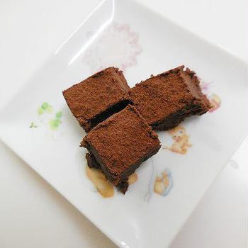 低カロリーでヘルシーなハイカカオの豆腐生チョコ♪