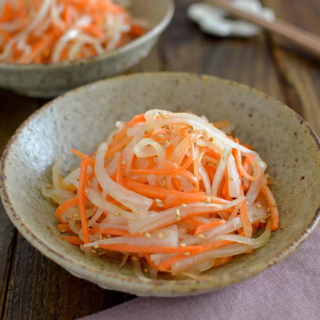 大根と人参の中華サラダ。作り置きに便利な副菜♪【農家のレシピ帳】