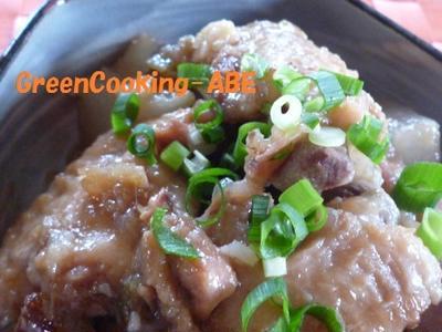 ルバーブでお肉やわらか煮! 湘南茅ヶ崎家庭料理教室~GreenCooking-ABE