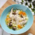 夏のスタミナ料理 スープが決めて!【生姜たっぷり鶏手羽先のスタミナ水炊きスープ】