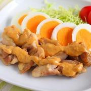 鶏肉レシピ【チキンの味噌マヨがけ】