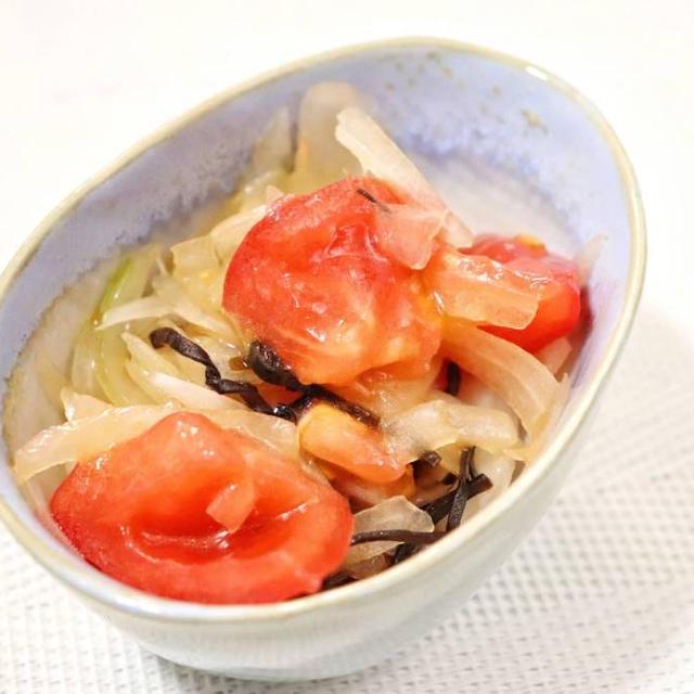 玉ねぎとトマトの塩昆布サラダ レシピ・作り方