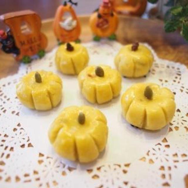スイートポテト☆ハロウィン仕様♪かぼちゃのカタチに♪