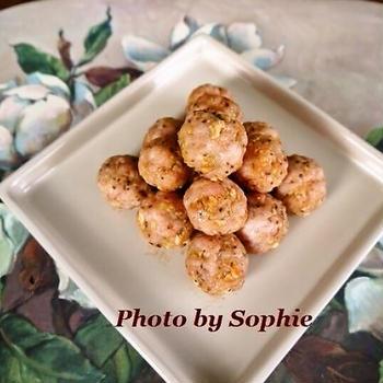 ミートボールの生姜風味のレシピ