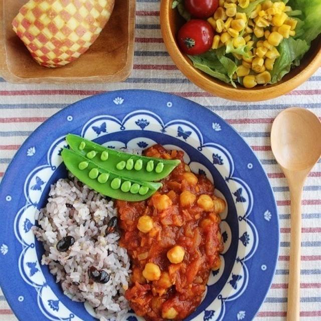 ひよこ豆とトマトのマクロビカレー*