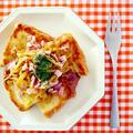チーズフレンチトースト@もやしカレーのっけ! 常備菜で楽チン朝ごはん♪