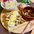 鳥の照り焼きと茹で卵のマヨトースト by yasai8931さん