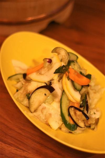 夏野菜の塩漬け
