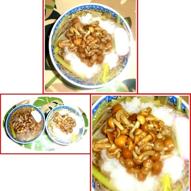 ナメコおろし蕎麦