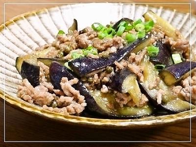 茄子の山椒風味ひき肉炒め&マイブームさんぴん茶