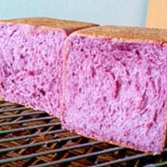 ホシノ酵母で紫イモの食パン