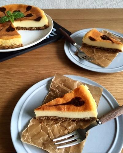 濃厚ベイクドチーズケーキ*簡単*混ぜるだけ