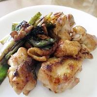 鶏肉の焼き鶏ガパオ風味