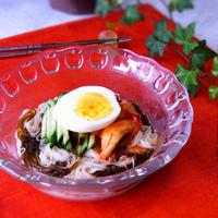 味付け不要! 韓国冷麺風もずく素麺