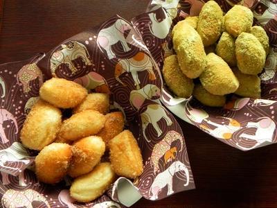 シナモンときな粉の揚げパン