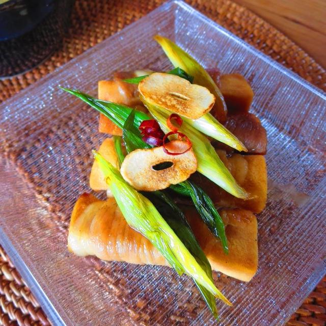 大好き♪甘辛おかず!ガーリックすき焼きの高野豆腐の豚肉巻き。