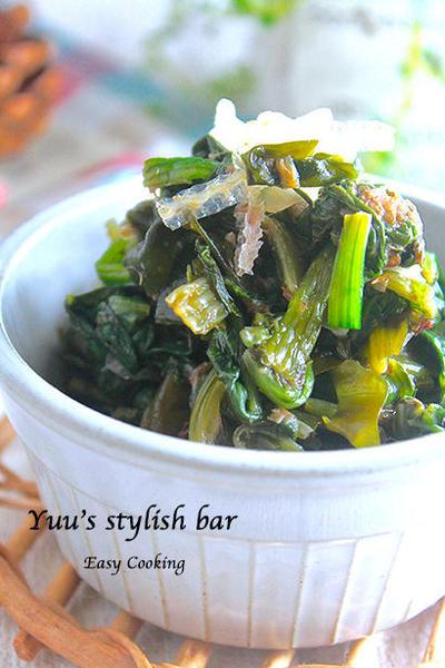 レンジで簡単副菜!『ホウレン草と海藻の栄養満点♡梅おかかサラダ』♡地味だけど、すごく美味しいよ〜♪《簡単*節約》