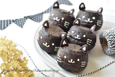 【レシピ】黒猫のチョコパン